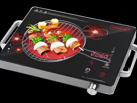 Bếp hồng ngoại có nướng thịt được không ?